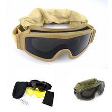 Militar do exército Tactical Goggles Airsoft Wargame Paintball Tiro Óculos  de proteção Da Motocicleta Óculos de 3558466bdd