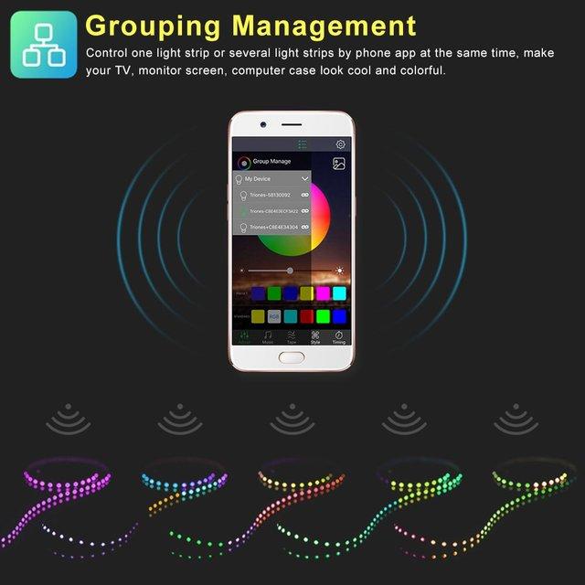 Intelligente RGB Bluetooth Timer Adatto LED Controller USB per 5V 3528 5050 RGB Della Luce di Striscia Multicolore Che Cambia Retroilluminazione TV