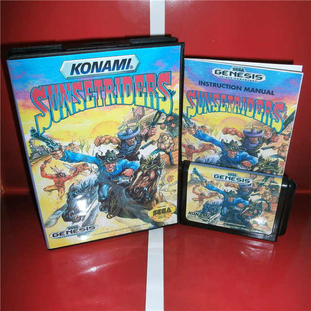 sunset riders md game cartridge us cover with box and manual for rh aliexpress com Life Manual of the Game Video Game Manual Art