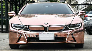 Image 3 - The newest High stretchable mirror rose gold Chrome Mirror flexible Vinyl Wrap Sheet Roll Film Car Sticker Decal Sheet