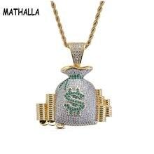 Кошелек mathalla bling iced out в долларах США кулоны с сумкой