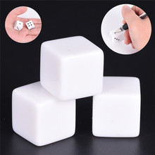 10 шт. диаметр 16 мм игровые кости стандартные шестигранники квадратный угол кубик белый