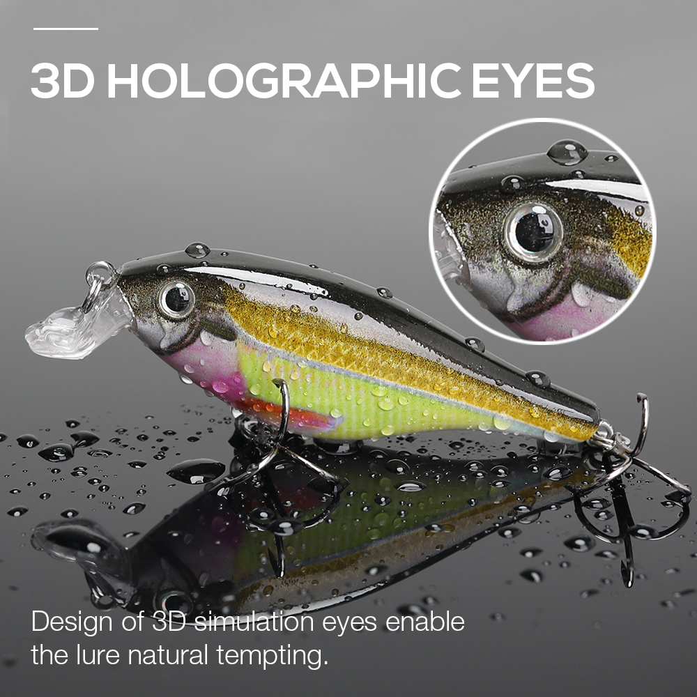Image 5 - VTAVTA Fishing Lure Hard Bait 7.5cm 11g Wounded Minnow Wobblers Crankbait Peche Bass Artificial Baits Pike Carp Lures Swimbait-in Fishing Lures from Sports & Entertainment
