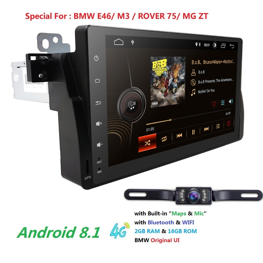 2G+16G Android 8.1 Car Radio multimedia Player GPS Navigation Bluetooth WiFi 1din Autoradio Stereo Audio For BMW M3 E46 DAB+TPMS2G+16G Android 8.1 Car Radio multimedia Player GPS Navigation Bluetooth WiFi 1din Autoradio Stereo Audio For BMW M3 E46 DAB+TPMS