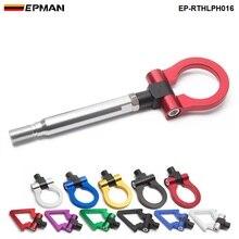 EPMAN-Jdm Автомобильная Заготовка алюминиевый винт-на передний задний Jdm автоматический буксирный крюк кольцо комплект для Subaru WRX/WRX BRZ EP-RTHLPH016