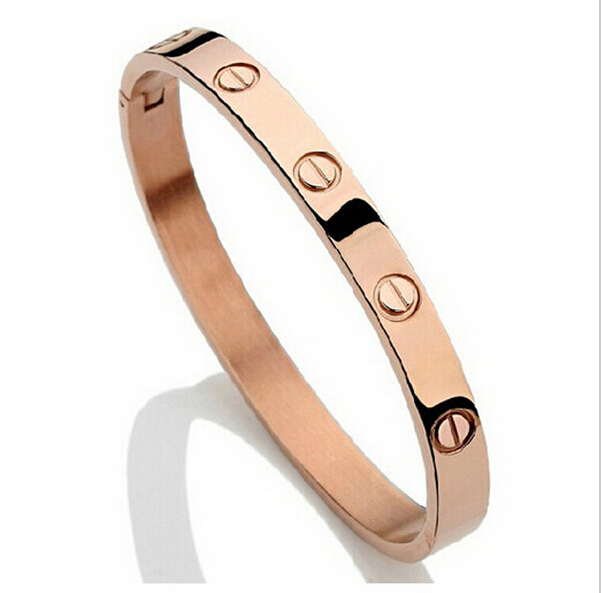 Trendy Famous Gold Silver Rose Plated Top Quality Bangle Lover Bracelet Jewelry Metal Bracelets