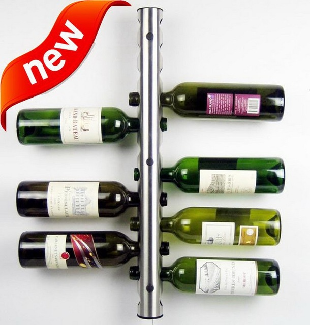 European Stainless Steel Wall mounted Wine Rack Fashion Bar Wall ...