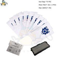 Sacos de pó da proteção do motor do filtro hepa para sacos aspirador pó miele 3d gn s5000 s8000 completo c2 c3 s5 s8 SF-50 peças reposição