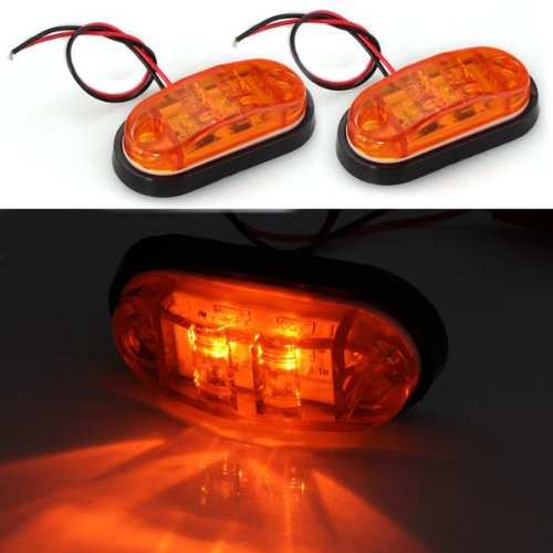 Toyl 2 х LED ампулы лампе Feu lateeral lumiere jaune DC 24 В автомобильной Камион