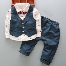 Взрывные модели; сезон весна-осень; Новинка; британский стиль; Детский костюм для мальчиков; джентльменский детский жилет с длинными рукавами; комплект из 3 предметов
