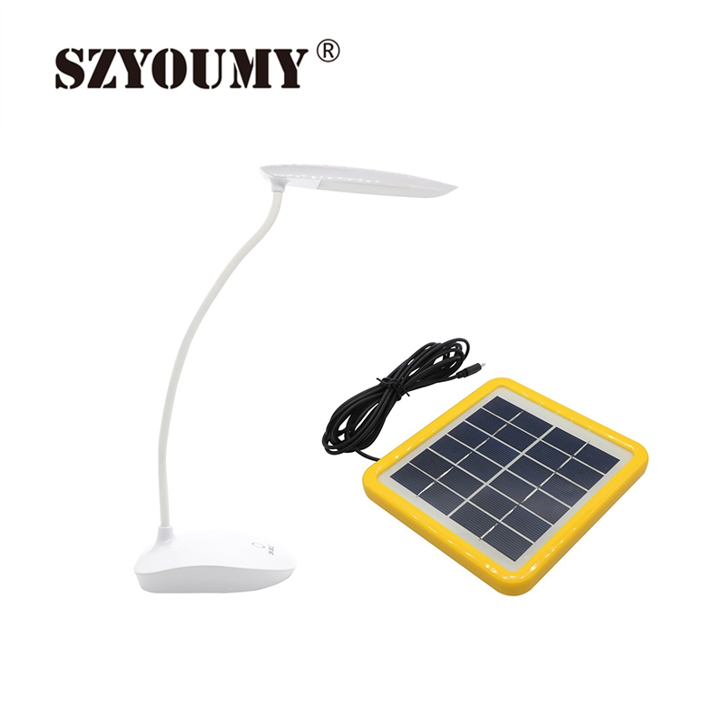 цена на LED Touch On/off Switch 6W Solar Powered Desk Lamp Children Eye Protection Study Reading Dimmer USB Rechargeable Led Table Lamps