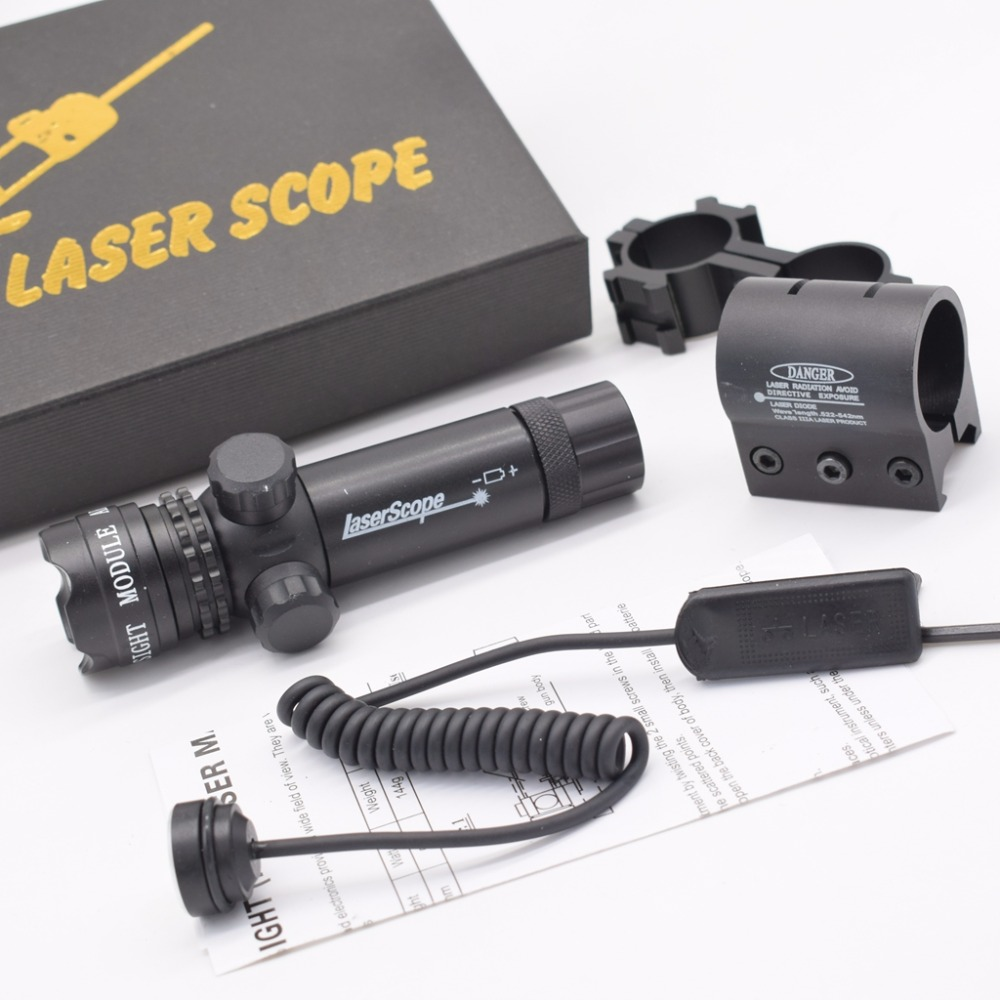 Tactical Green Red Laser Sight Scope for Rifle Guns with 20mm Mount 8 Figure Mounts Laser for Hunting Airsoft