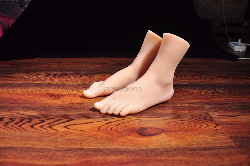 Silicone Fake Foot,Inner-Bone Inside,Toe Move Freely,female Feet Model,Shoe Model,silicone foot sex toys 28cm 36 male boys silicone fake foot inner bone inside toe move freely feet model shoe model f 505 page 3