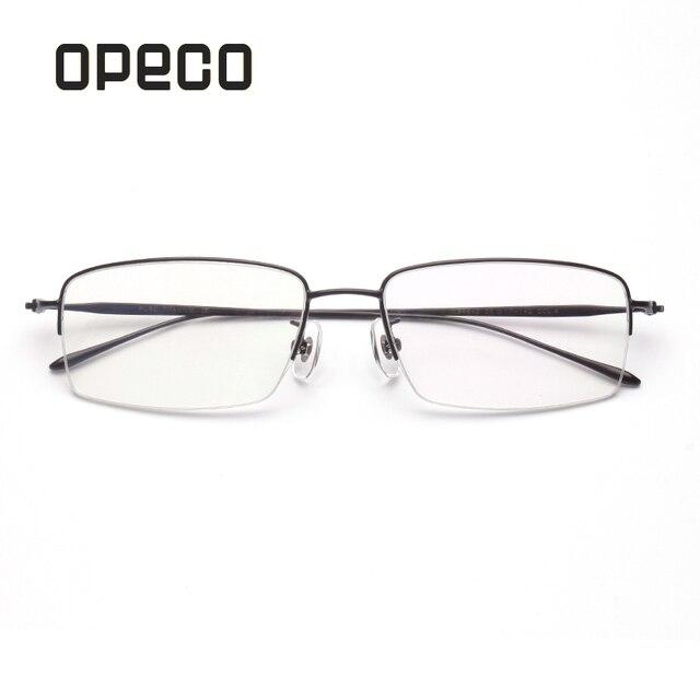 bb1ee21603 Opeco men s pure titanium light weight eyeglasses including RX prescription  lenses eyewear frame RX recipe male spectacles 6640