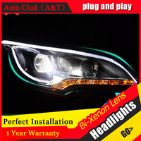 Auto Clud Xenon H7 Headlights For Ford Kuga 2013 14 15 Car Styling LED Guide DRL