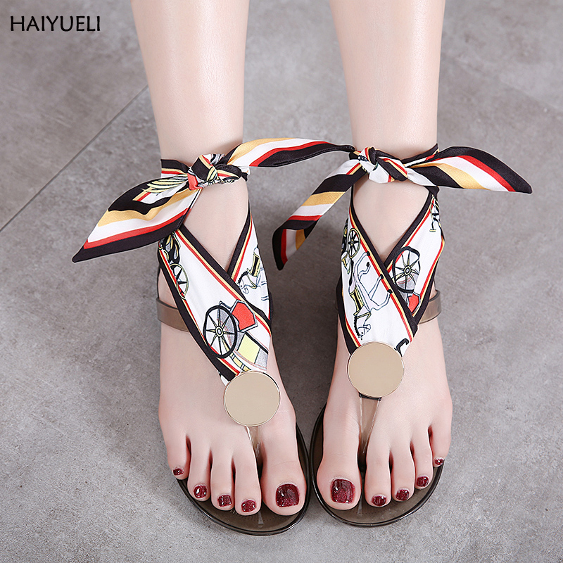 Flip flops 2017 summer jelly shoes designer women sandals Color Ribbon Bowknot slippers casual Transparent beach flat flip flops 2016 new color crystal jelly women sandals female women flip flops women slippers beach sandals