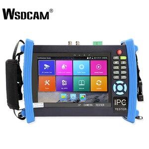 Wsdcam 8600 Plus-caméra IP 7 pouces | Testeur de vidéosurveillance Test Anolog 1080P, POE ONVIF 4K H.265, HDMI In & Out RJ45 TDR