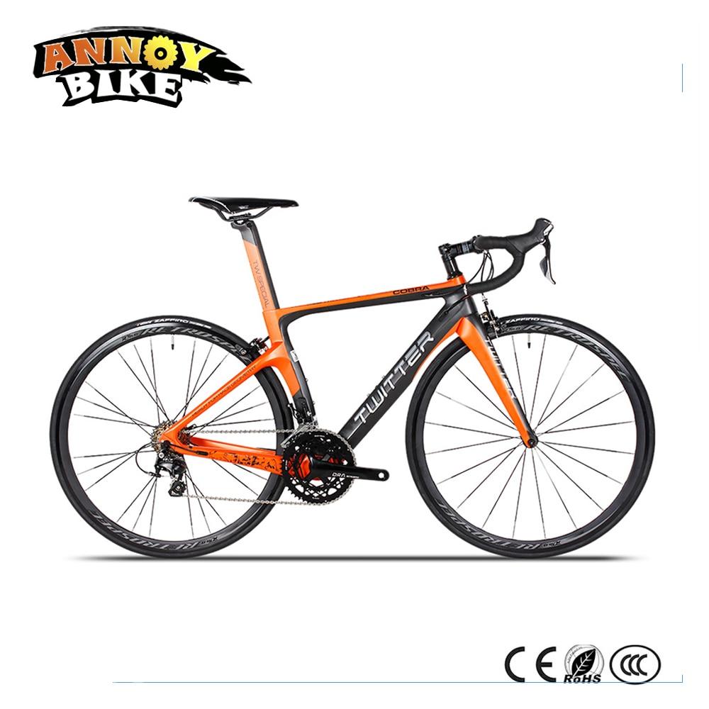 Twitter Super Light 22 Speed Aluminum Alloy Handle Carbon Break Wind Frame 700C Road Bike