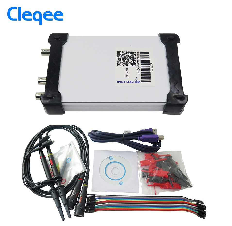 ISDS205C 4 IN 1 Virtual PC USB Digital Oscilloscop+Data Recorder+Spectrum Analyzers+USB 16 Logic Analyzer(support Saleae Logic)