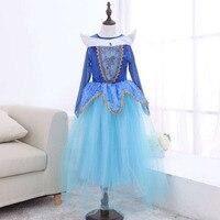 New Fashion 2 Colors Girls Dresses Children S Dance Clothing Sleeping Beauty Clothing Halloween Long Sleeve