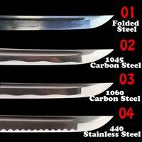 شفرة السيف العملية مزورة الصلب مطوية/عالية الكربون الصلب للساموراي كاتانا اليابانية/واكيزاشي/تانتو الحدة تانغ الكامل