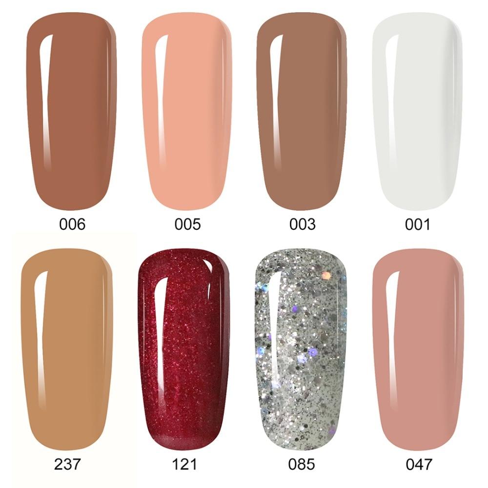 8ml Nude Color UV Gel Nail Polish Holographic Primer Esmalte Gel Lak UV LED Gel Nail Lakiery Hybrydowe Gel Lacquer