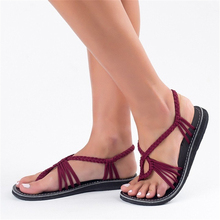 New 2019 Women sandals sexy Cross tied flat for women summer beach with ankle strap shoes outdoor