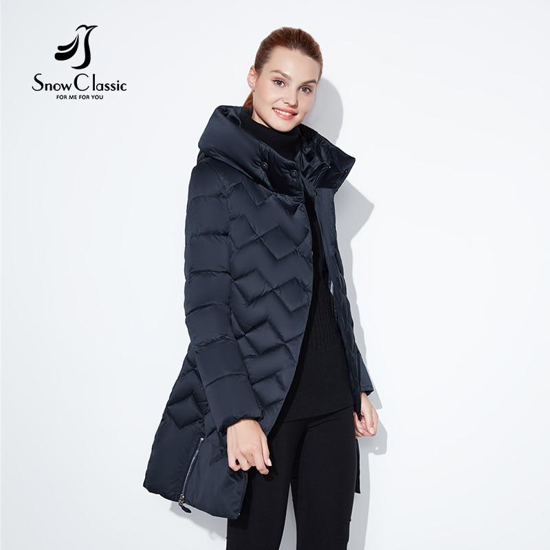 99e754b2a8 SnowClassic winter jacket women Thin short parka Hood coats luxury  outerwear Argyle jacket female over solid winter coats 2018-in Parkas from  Women s ...