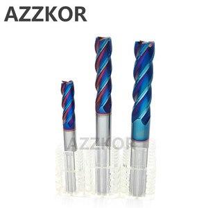 Image 4 - AZZKOR Fresa con recubrimiento de aleación, herramienta de acero de tungsteno, 100L/150L Hrc70, alargadora facial, fresas CNC