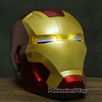 The Avengers Iron Man Mask for Child Helmet Cosplay Helmet Ring Sensor Switch Light Eyes PVC Action Figure Collectible Model Toy