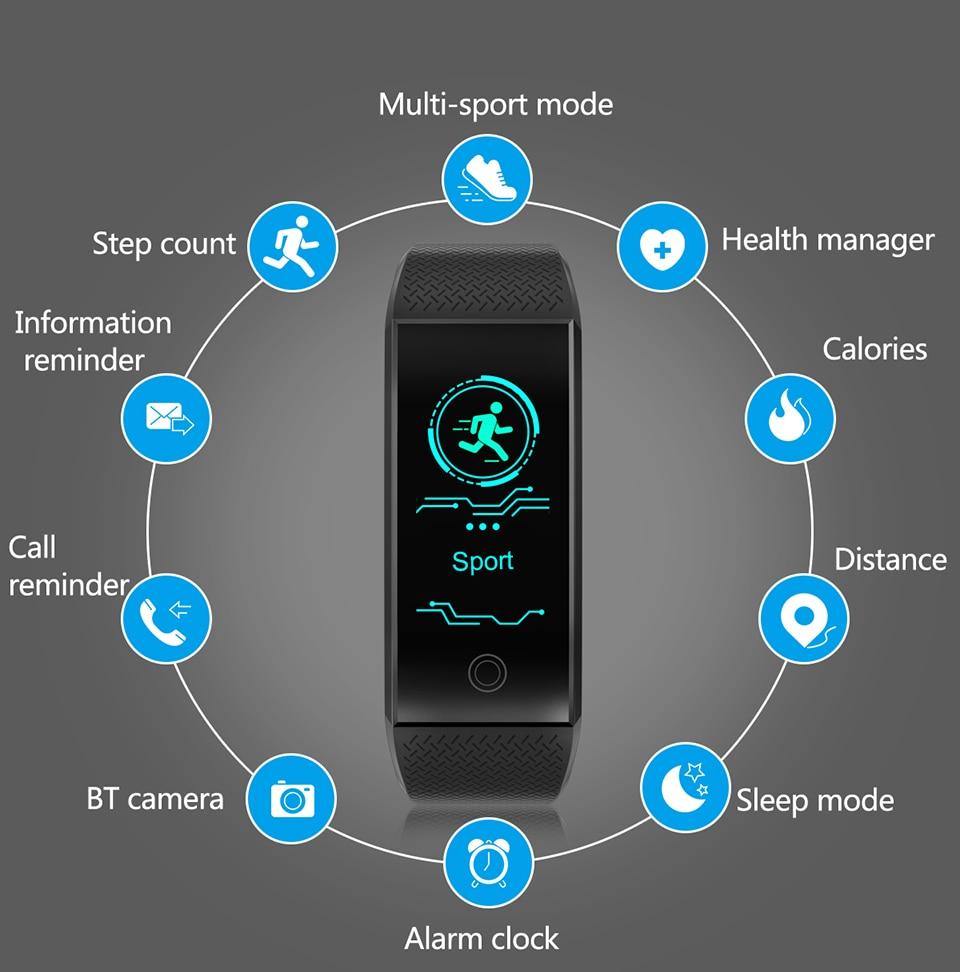 HTB1OAelkOAnBKNjSZFvq6yTKXXav TimeOwner Smart Bracelet Waterproof Heart Rate Monitor Smart Band Sport Passmeter Calories Mileage Multi Sport Fitness Tracker