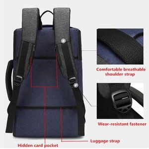 Image 3 - Мужской рюкзак BAIBU, многофункциональный водонепроницаемый рюкзак с защитой от кражи, 17 дюймов, USB, для ноутбука