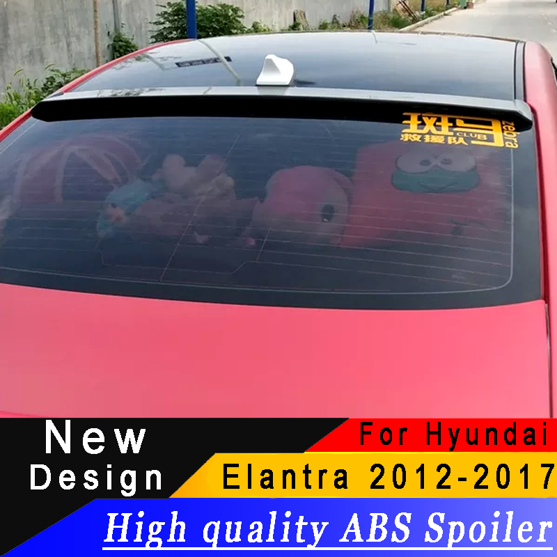 For Hyundai Elantra 2012 to 2017 Roof Spoiler High quality ABS material Primer or any color Rear wing roof spoilerFor Hyundai Elantra 2012 to 2017 Roof Spoiler High quality ABS material Primer or any color Rear wing roof spoiler
