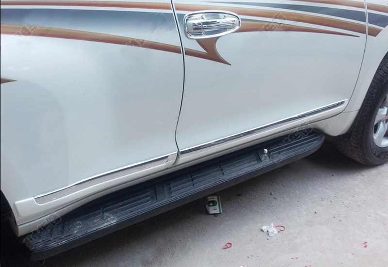 For Toyota Land Cruiser 150 Prado FJ150 2010 2011 2012 2013 White Side Door Body Molding Cover Trim Car decoration accessaries