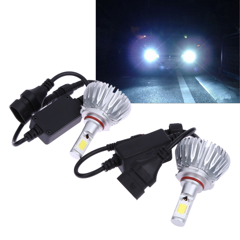 2Pcs Car-styling Headlight 9005 9006 COB LED Headlamp 60W 6000Lm Auto Head Light Bulb Light-emitting Diode Fog Lamp Lighting 12V newest h4 led car headlight h1 h8 hig led light 9005 9006car led headlight bulb auto headlamp lamp high low beam white lighting