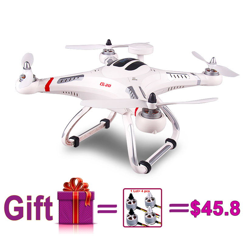 Free shipping Cheerson CX 20 RC Drones 6 axis 2 4G Drone with GPS Brushless Remote