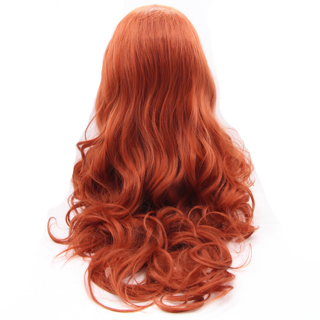 Red Body Wave Wig Synthetic Lace Front Wigs For Women Heat Resistant Fiber Hair Drag Queen Wigs 3