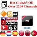 Espanha H96Pro 3G16G IPTV Android 6.0 Caixa de TV IPTV 2200 Canais + Holanda Turco Alemão Albanês Portaguese IPTV Adulto XXX & VOD