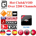 Spain IPTV H96Pro 3G16G Android 6.0 TV Box German IPTV 2200+ Channels Netherlands Turkish Portaguese Albanian IPTV Adult XXX&VOD