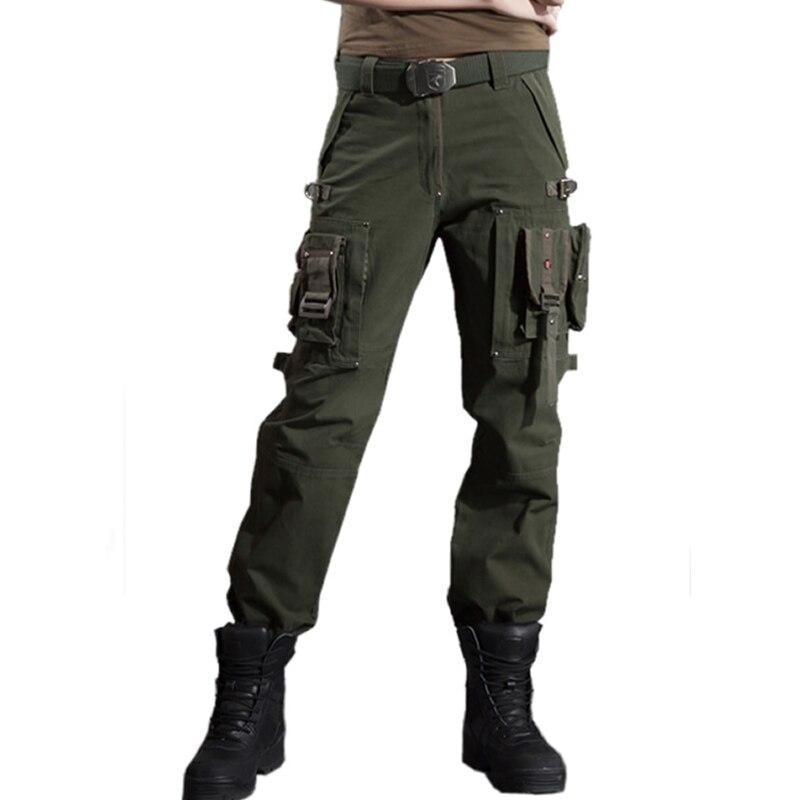 Forza Armata Donne Uomo Di Combattimento Tactical Millitary Multi Tasche Tuta Pantaloni Cargo All'aperto Campeggio Trekking Pantaloni Da Lavoro Crease-Resistenza
