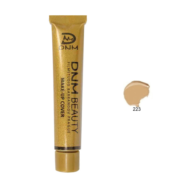 DNM Waterproof Make Up Concealer Dark circles Foundation Cream Liquid Lasting Small Gold Tube Contouring Makeup maquiagem TSLM2 1