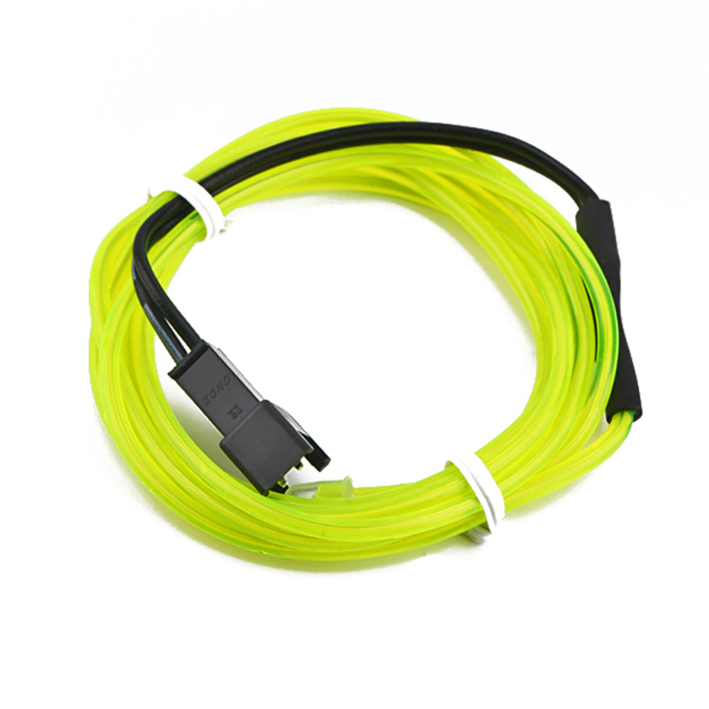 High Quality 1M Colorful Flexible EL Wire Tube Rope Neon Light Glow Car Party Decor
