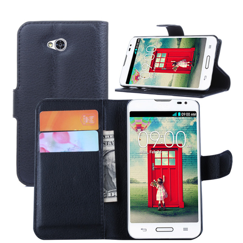 Case for LG L70 D320 D320N D320F8 Luxury Wallet PU Leather Case For LG L70 Case 2017 New Stand Flip Card Hold Phone Cover Bags