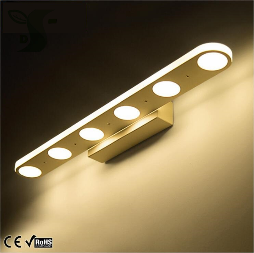 12W 18W LED mirror front lights bathroom lights make-up lights waterproof, anti-fog simple fashion AC 85-265V Wall optional shipping costs fog proof led mirror lights dressing table toilet bathroom mirror front lamp ac85 265 12w 60cm