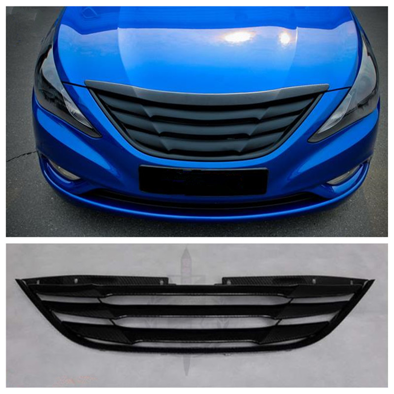 High Quality Carbon Fiber Car Front Racing Grill Grille Fit For Hyundai SONATA 8 2011-2014 Accessories grille