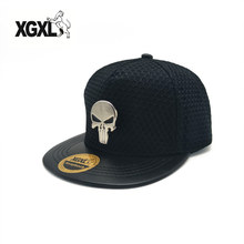 XGXL Fashion Men Women Silver Skull Baseball Cap SEALs Punisher Tactical Hats Amercian Punisher Team Hat Adjusted Caps Wholesale