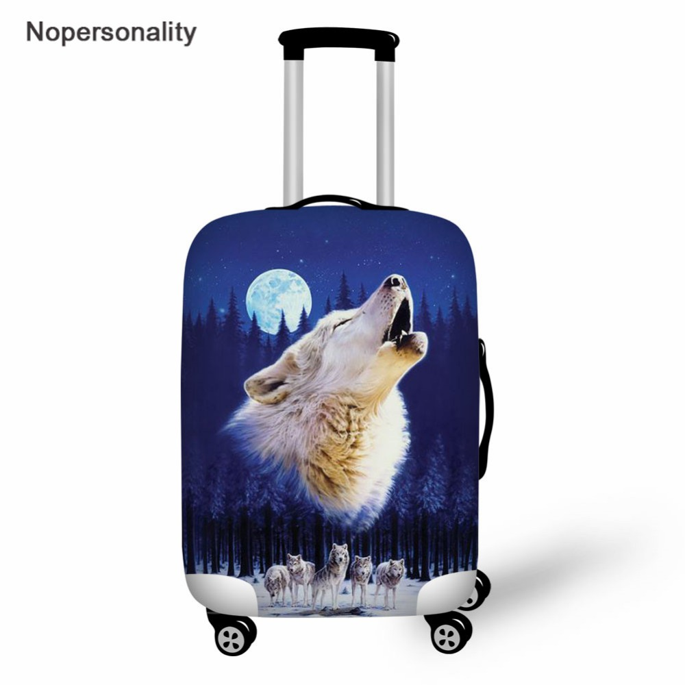 Nopersonality Suitcase Protective Covers For 18-30 Inch Suit Case,Wolf Prints Travel Luggage Cover Dust Cover,Travel Accessories