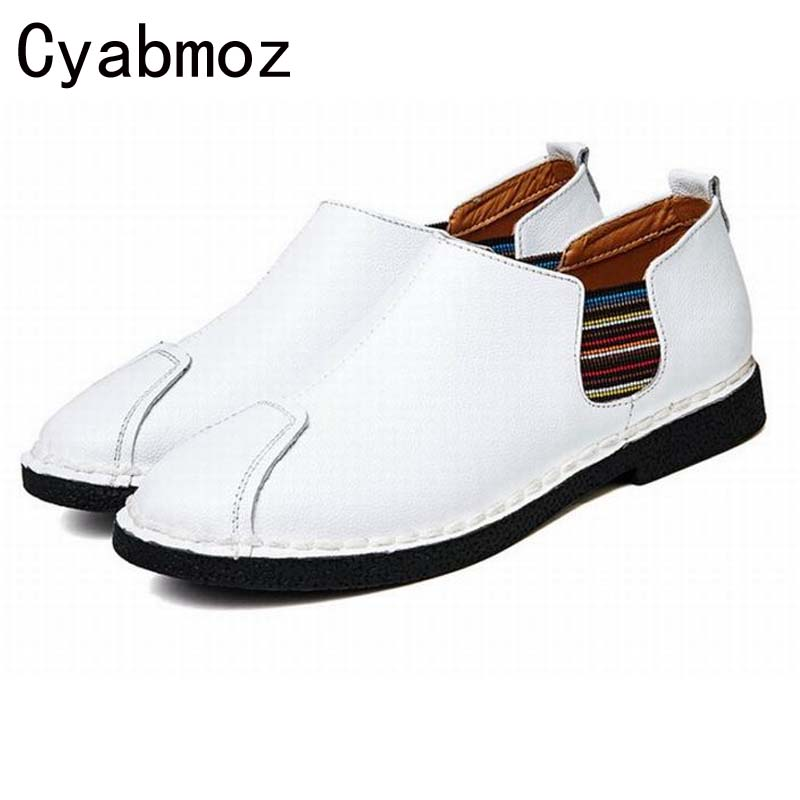 New Arrival Fashion Men's Vintage Loafers Moccasins Zapatos Hombre Sapatos British Style Casual Shoes Flats Driving Shoes Retro cyabmoz 2017 flats new arrival brand casual shoes men genuine leather loafers shoes comfortable handmade moccasins shoes oxfords
