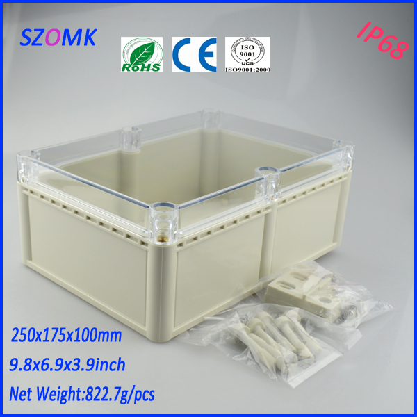 brand box electronic project box (1pcs)250*175*100mm enclosures for electronics distribution box waterproof electronic enclosure 1 piece free shipping electronic enclosure box para eletronica electronic box abs 250 175 100mm
