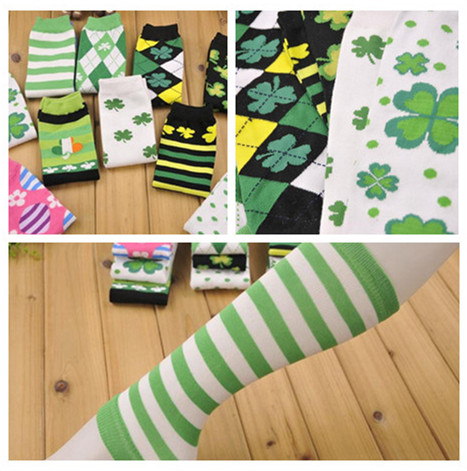 Free shipping/wholesale hot sale! St Patricks day Lucky clover leg warmer for baby 10pairs/lot